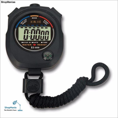 Classic Digital Professional Handheld LCD Chronograph Sports Stopwatch Timer Stop Watch with string 2017 new sale F3