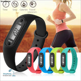 Digital LCD Walking Distance Pedometer Run Step Walking Distance Calorie Counter Wrist Women&Men Sport Fitness Watch Bracelet - ShopManiaa