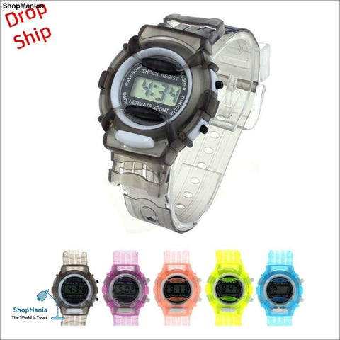 Fashion Boys Girls Children Students Waterproof Digital Wrist Sport Watch DROP SHIPPING f5m30HY
