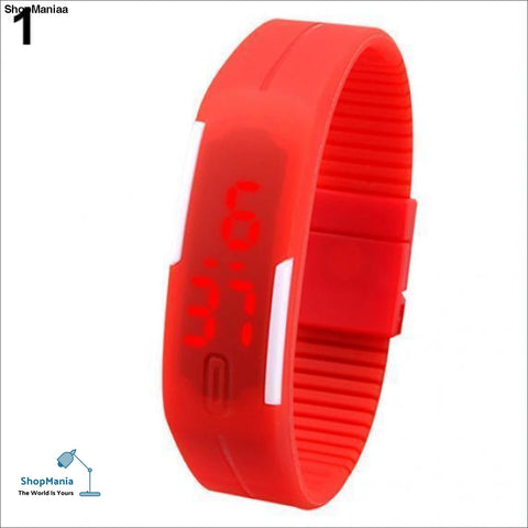 FUNIQUE Sport LED Watches Candy Color Silicone Rubber Touch Screen Digital Watches Waterproof