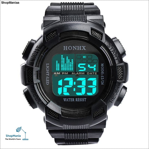 HONHX Mens Watch LED Digital Date Waterproof Sports Army Males Quartz Watch Outdoor Electronics Men Clock Relogio Masculino Y25