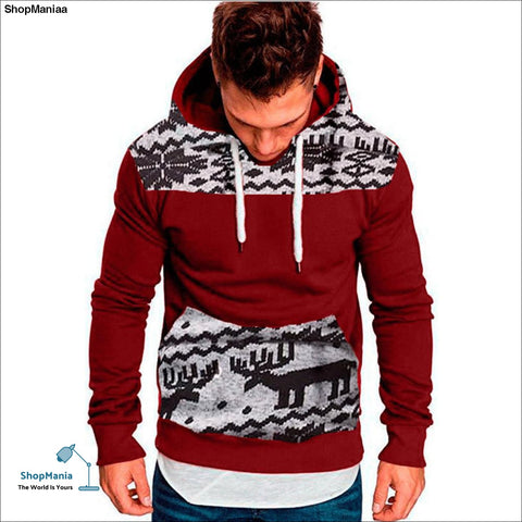 ISHOWTIENDA Mens Hoodies 2018 Christmas Large Size Sweatshirts Pullover Casual Winter Men Clothes Sudaderas Para Hombre