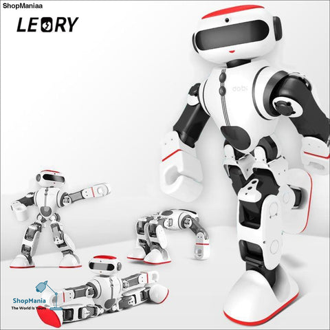 LEORY Voice Control Robot Intelligent Humanoid App Control RC DIY Robot Voice Recognition Toys For Children Kids Gifts Present
