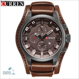 Luxury Brand CURREN Mens Watches Military Sports Men Watch Quartz Date Clock Casual Leather Wrist Watch Relogio Masculino 8225 - brown brown