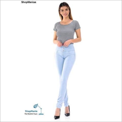M.Michel Women's Jeans Colombian Design, Butt Lift, Levanta Cola, Push Up, Skinny - Style K843B