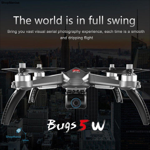 MJX Bugs 5W B5W Drone with 1080P Camera Adjustable Brushless Motor GPS FPV RC Quadcopter 5G WIFI  Follow Me Hovering