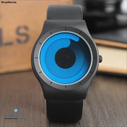 New Concept Watch Minimalist Style Cool Color Spiral Turntable Novel Stylish Wristwatch Geek Fans Gift Male Female Clock relogio