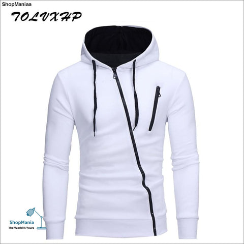 New Hoodies Men 2018 Brand Male Long Sleeve Hoodie Side Oblique pull Sweatshirt Mens Moletom Masculino Hoodies Slim Tracksuit