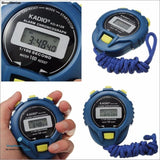 NEW Life Waterproof Digital LCD Stopwatch Chronograph Timer Counter Sports Alarm erkek kol saat relogioi drop shipping - ShopManiaa