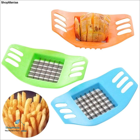 New Qualited Vegetable Potato Slicer Cutter Chopper Chips Making Tool Potato Cutting Tool Stainless Steel cookie cutter DEC6