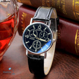 New Watches Men Fashion Quartz Mens Watch Leather Strap Relojes Needle Length Watches classic number style masculine wristwatch - ShopManiaa