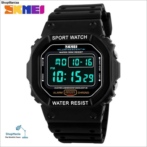 SKMEI digital watch men Military outdoor waterproof running led watch sport watches  electronic wrist diving watch