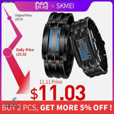 SKMEI Fashion Creative Watches Men Luxury Brand Digital LED Display 50M Waterproof Lovers Wristwatches Relogio Masculino - ShopManiaa