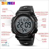 Skmei Men Watch 2019 Top Luxury Brand Sport Watch Electronic Digital Male Wrist Clock Man 50M Waterproof Mens Watches 1258 - Shopmaniaa
