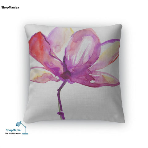 Throw Pillow, Beautiful Pink Flower