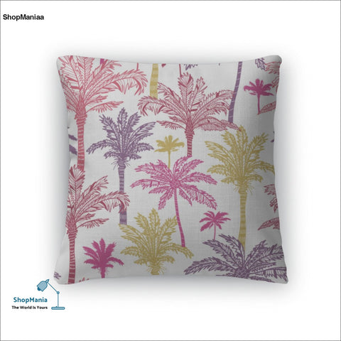 Throw Pillow, Palm Trees Pattern