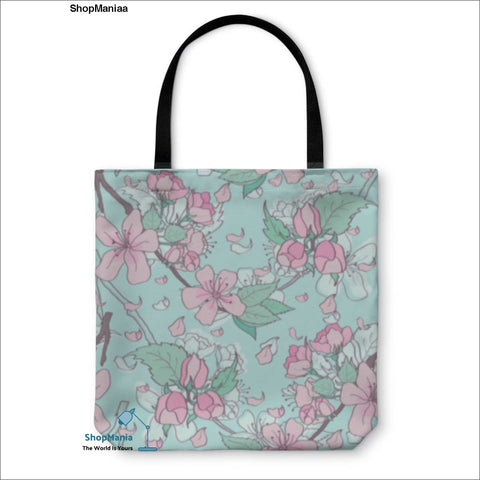 Tote Bag, Cherry Blossom Pattern