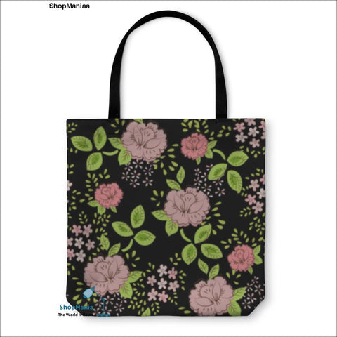 Tote Bag, Rose Floral Vintage Pattern