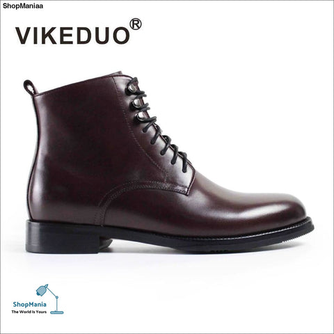 Vikeduo Fashion Military Boots Men 2018 Vintage Original Boot Male Lace-up Sewing Solid Shoes Handmade Leather Sapato Masculina