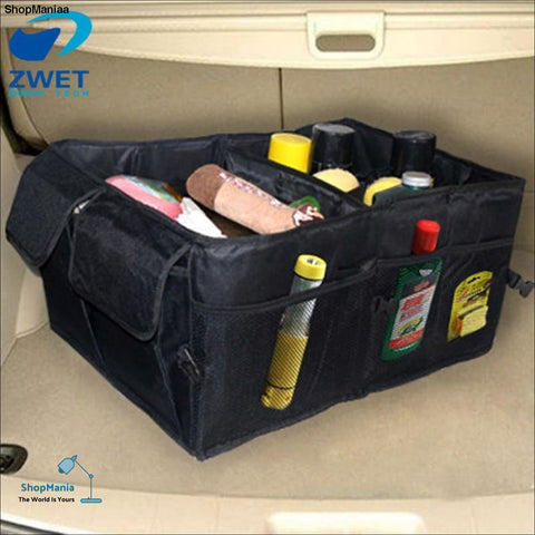 ZWET Car Organizer Boot Stuff Food Storage Bags trunk organiser all new Stowing Tidying Interior Accessories Folding Collapsible