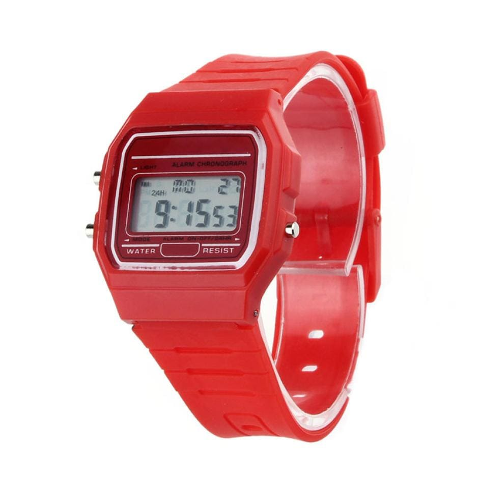 a red watch