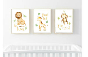 Jungle nursery prints