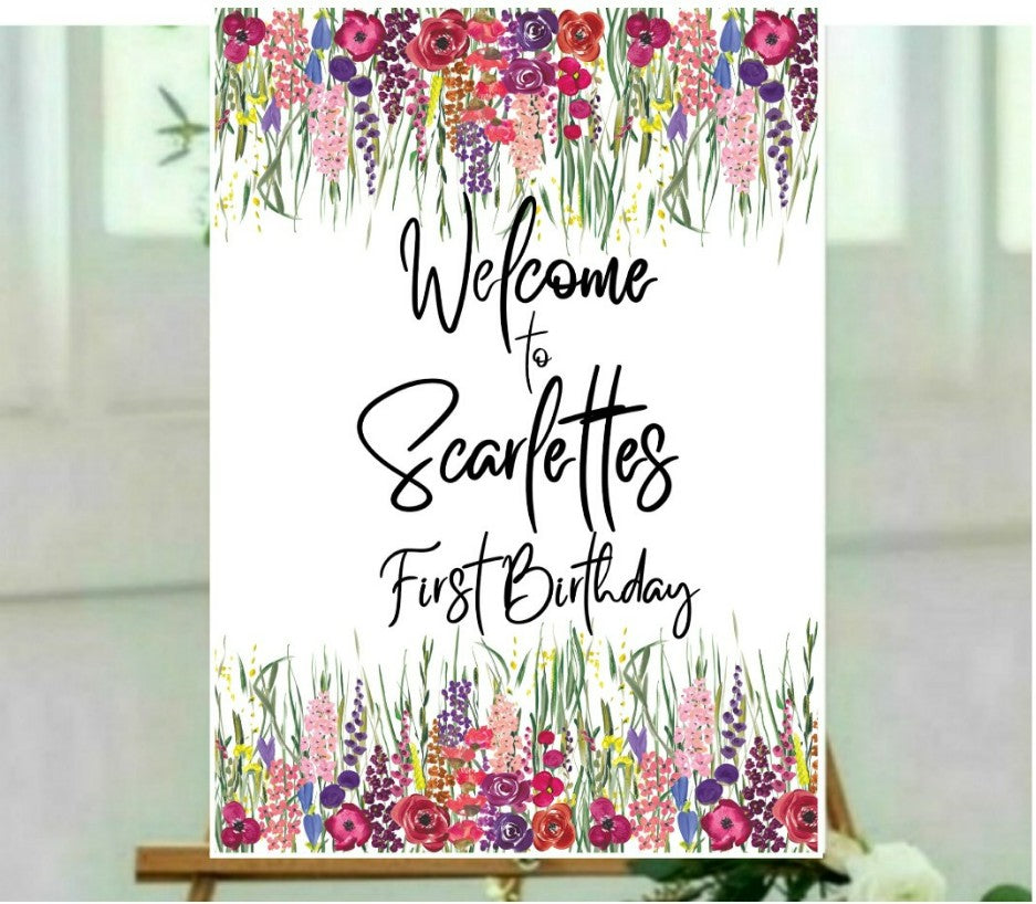 Customised Welcome Sign