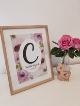 Load image into Gallery viewer, Pastel floral personalised print