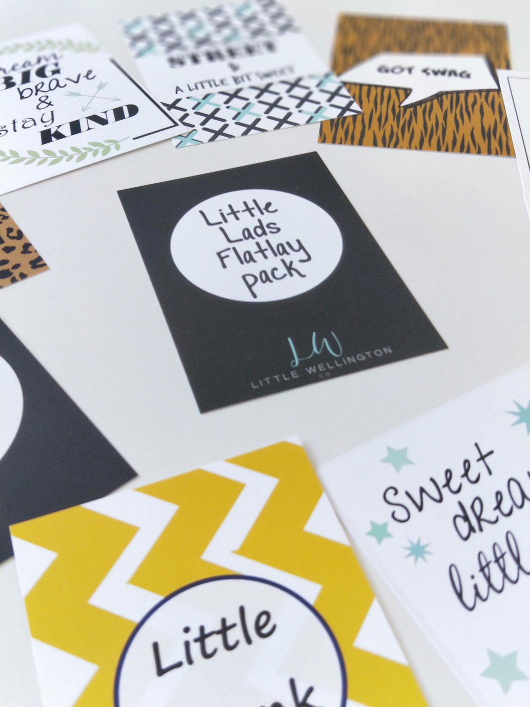 Little Lads Flatlay Cards