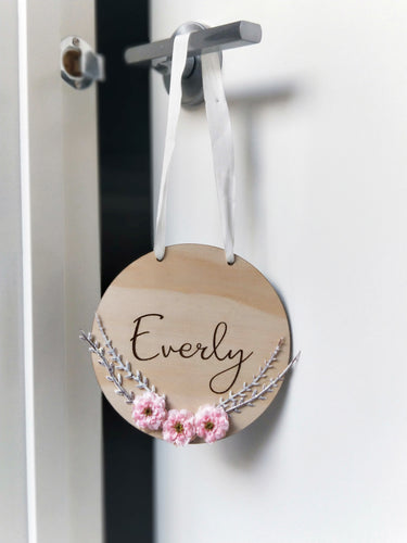The Everly name plaque