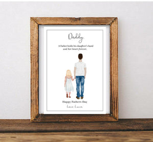 Fathers Day Portrait Print