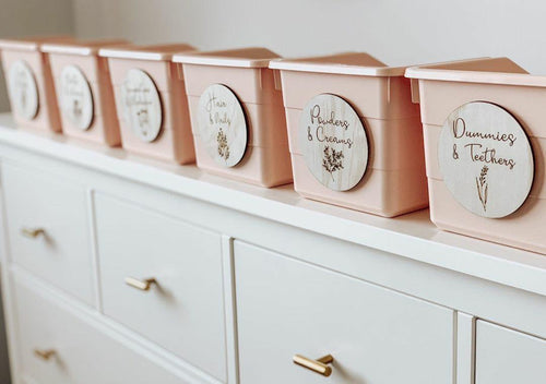 Floral drawer tags