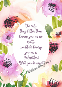 Watercolour floral Godmother print