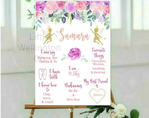 Fairy Birthday Board