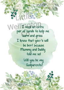 Godparent proposal card