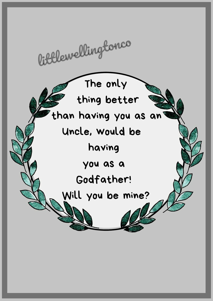 Godfather Proposal Print