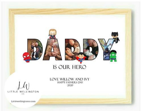Pictures in word superhero print