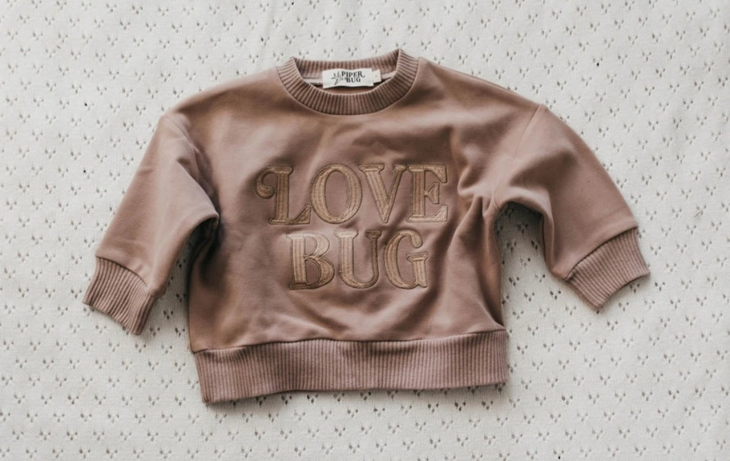 Love Bug sweater in dusty rose (PRESALE)