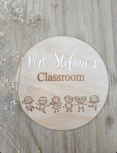 Personalised Classroom Sign