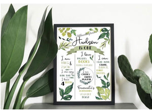 Greenery Birthday Print