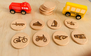 Transportation memory game
