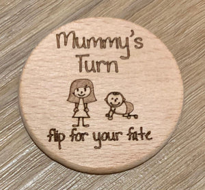 Mummy's turn/Daddy's turn flip disc