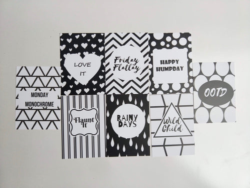 Mad for Monochrome Flatlay Cards