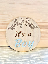 Load image into Gallery viewer, It's a BOY gender reveal plaque