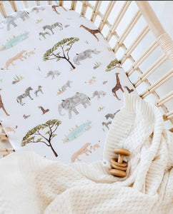 Safari | Bassinet Sheet / Change Pad Cover