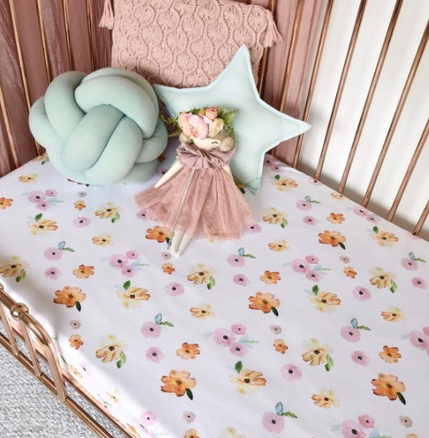 Poppy I Fitted Cot Sheet