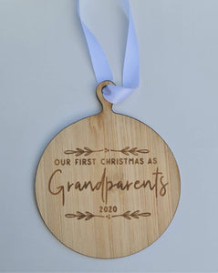 First year as Grandparents Christmas Bauble