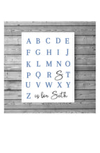 Load image into Gallery viewer, Personalised alphabet print