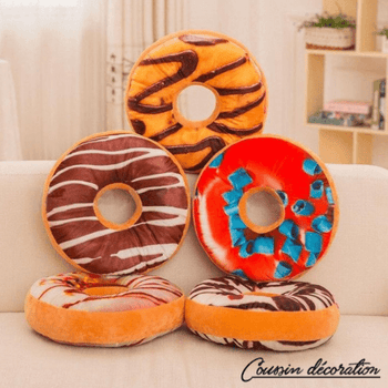 Coussin forme donuts