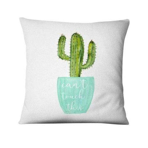 Coussin motif cactus can't touch this